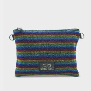 Pochette zippée multicolore