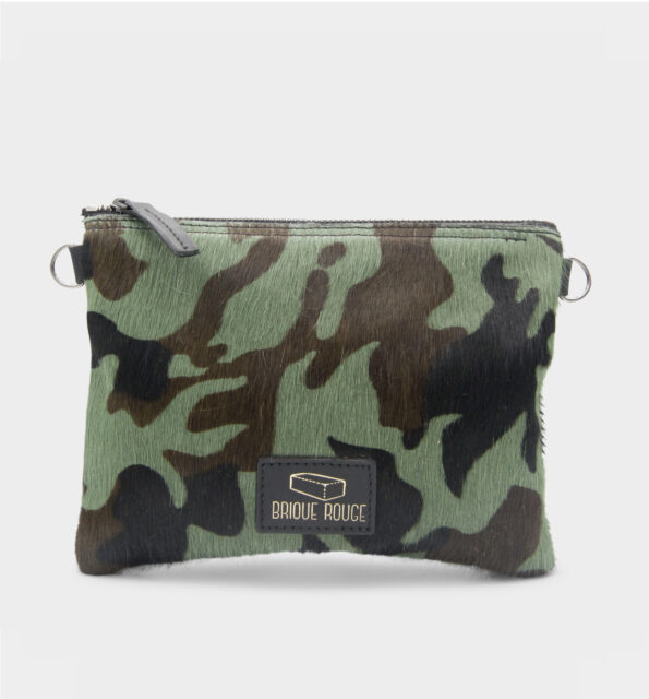 Pochette zippée pony camouflage