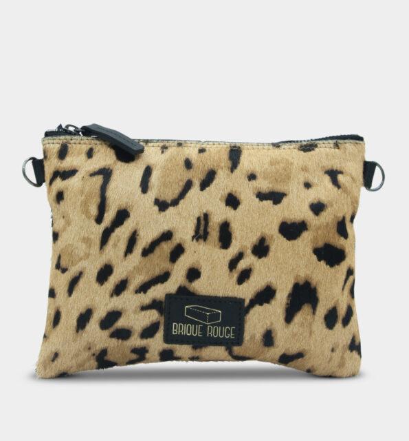 Pochette zip guepard
